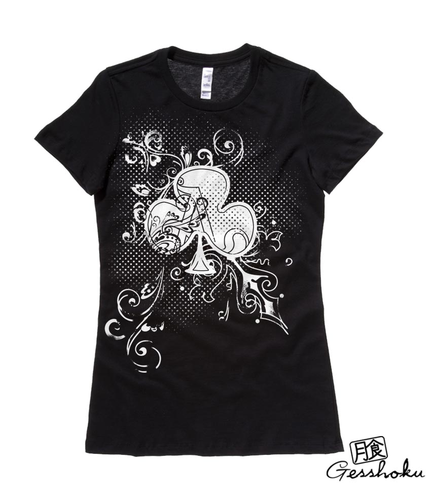 Ace of Clovers Ladies T-shirt - Black