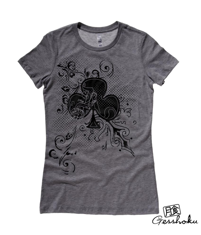 Ace of Clovers Ladies T-shirt - Charcoal Grey