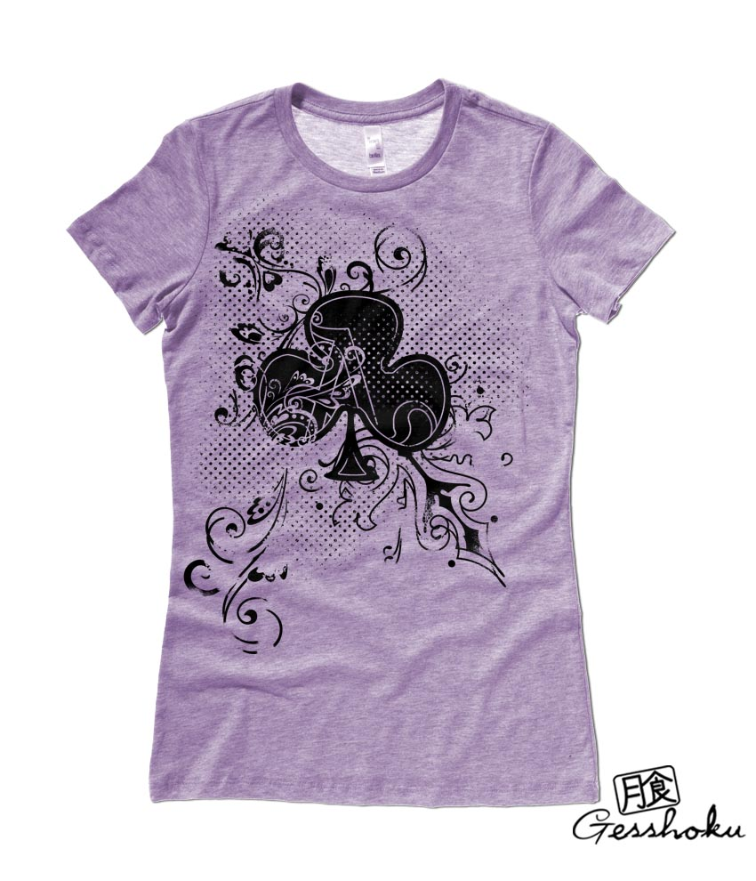 Ace of Clovers Ladies T-shirt - Heather Purple