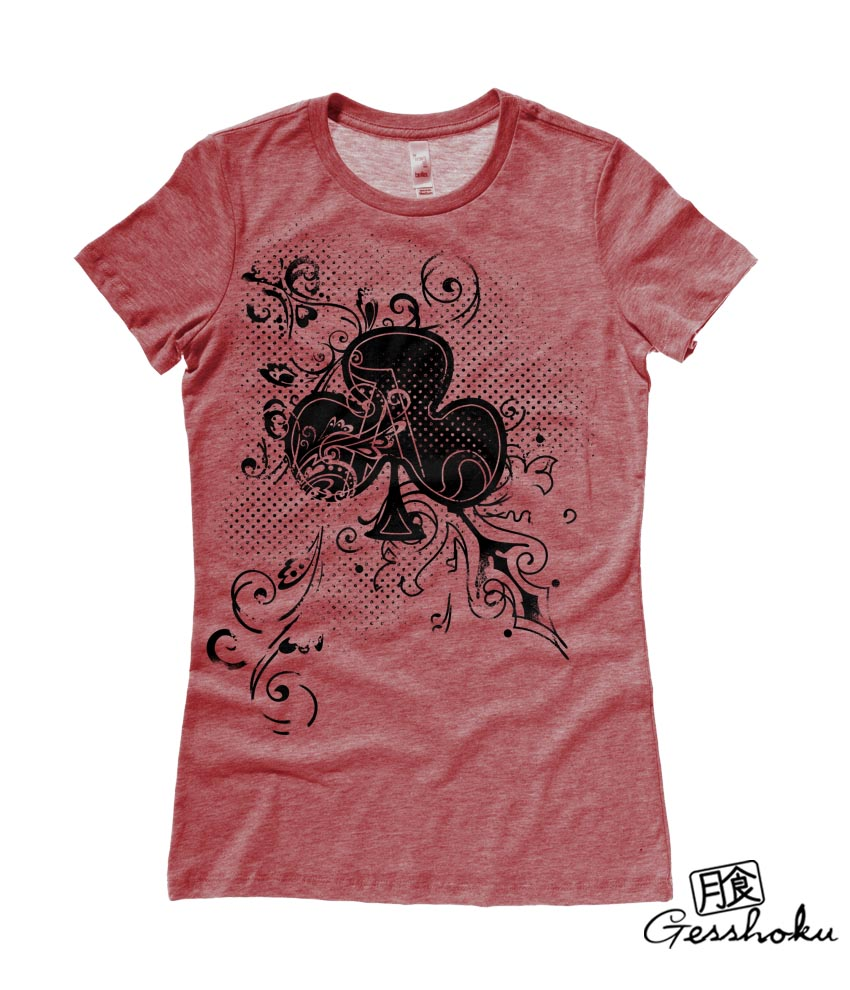 Ace of Clovers Ladies T-shirt - Heather Red