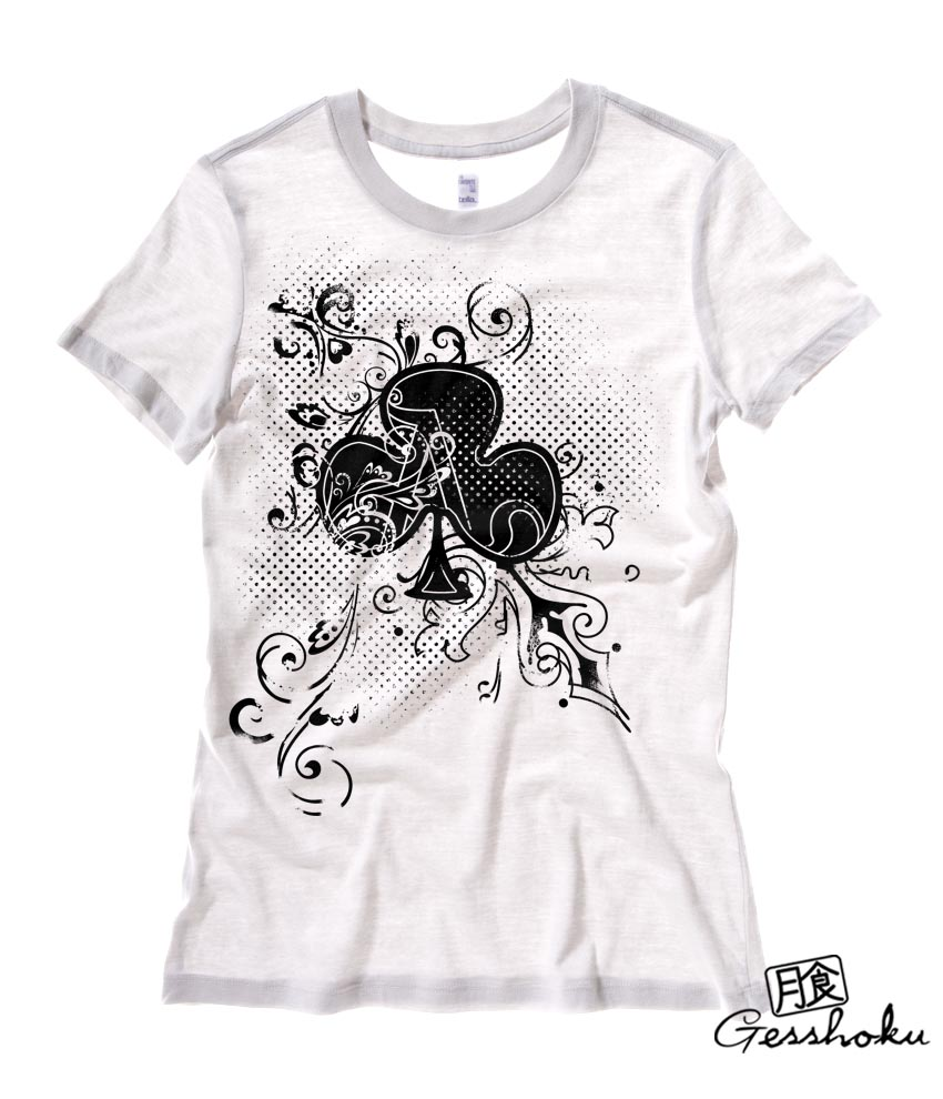 Ace of Clovers Ladies T-shirt - White