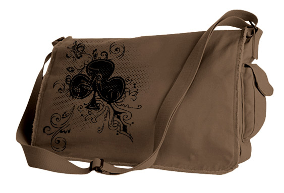 Ace of Clovers Messenger Bag - Brown