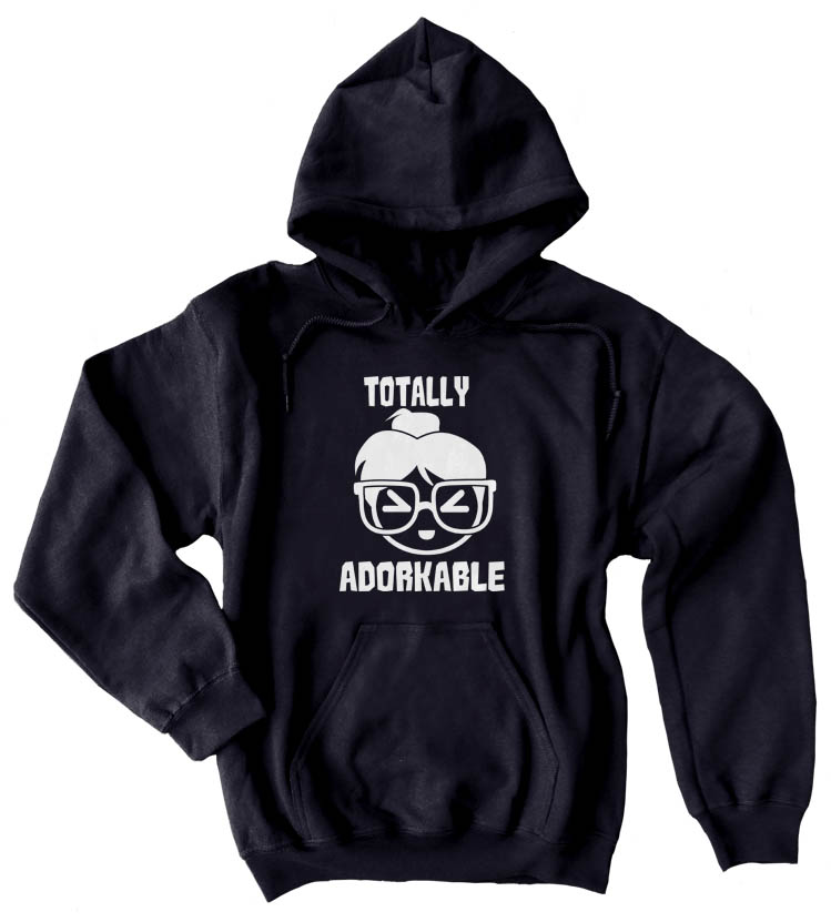 Totally Adorkable Pullover Hoodie - Black
