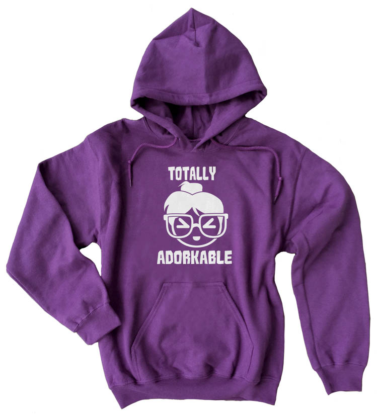 Totally Adorkable Pullover Hoodie - Purple