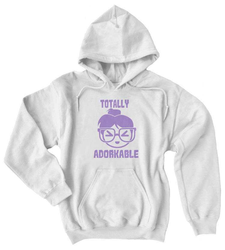 Totally Adorkable Pullover Hoodie - White