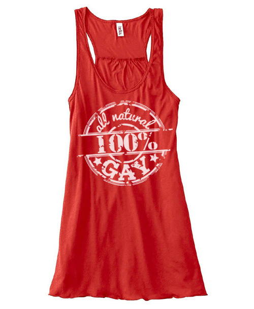 100% All Natural Gay Flowy Tank Top - Red