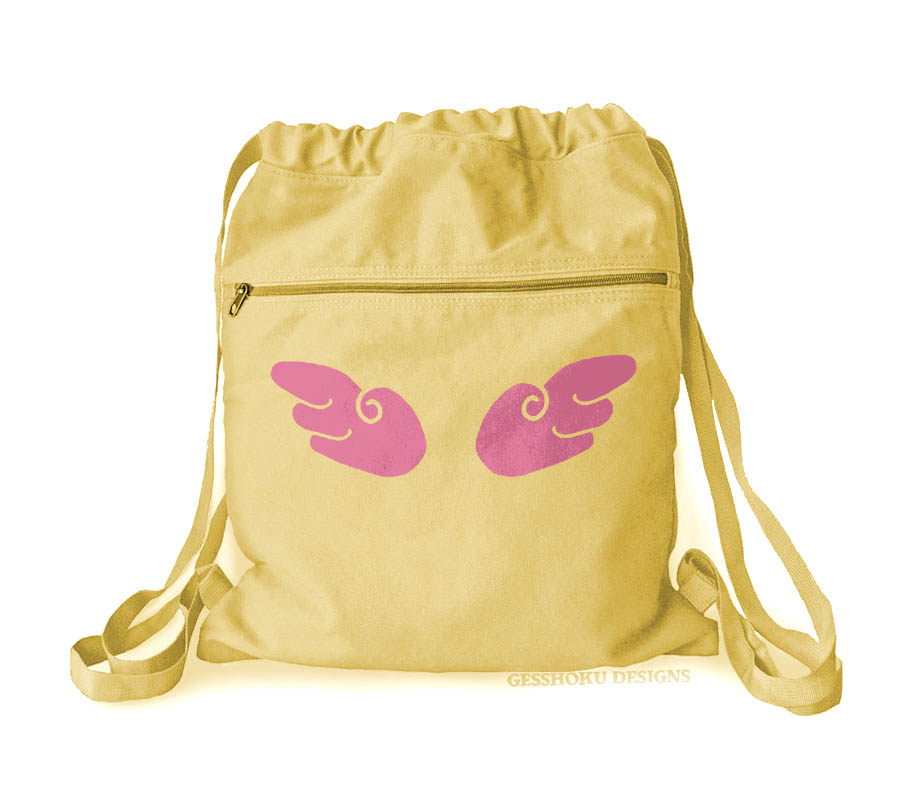 Angel Wings Cinch Backpack - Yellow
