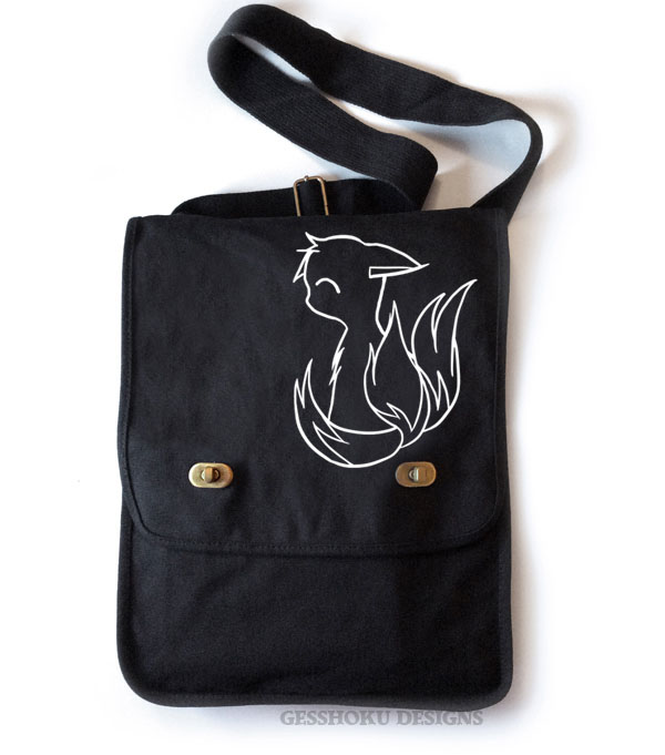 3-Tailed Baby Kitsune Field Bag - Black