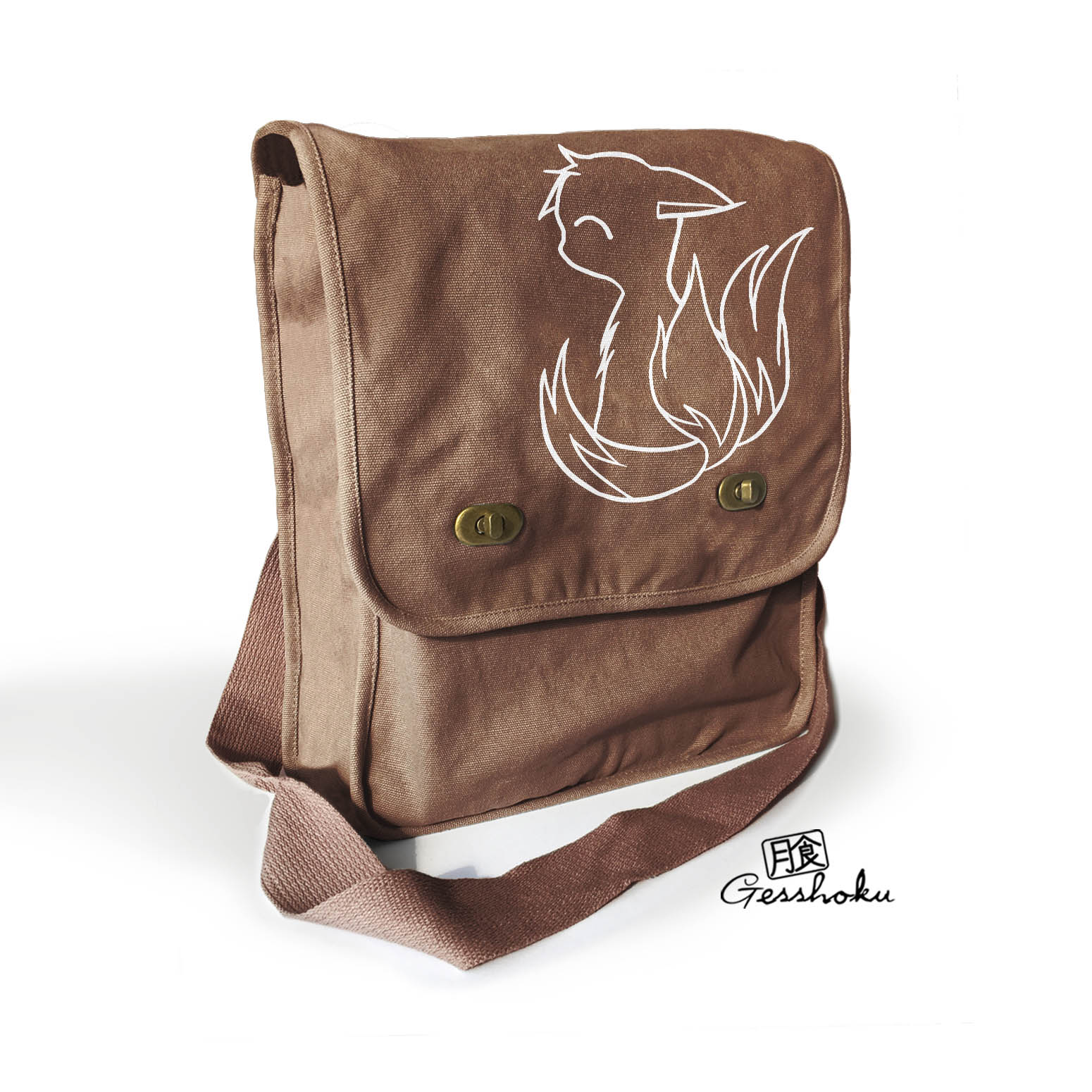 3-Tailed Baby Kitsune Field Bag - Brown
