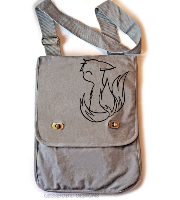 3-Tailed Baby Kitsune Field Bag - Smoke Grey