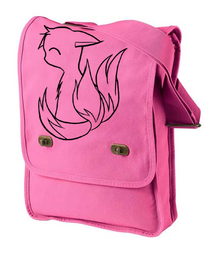 3-Tailed Baby Kitsune Field Bag - Pink
