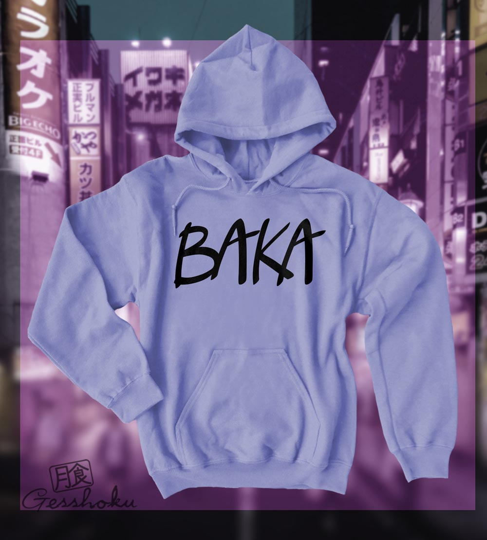 Baka (text) Pullover Hoodie - Violet
