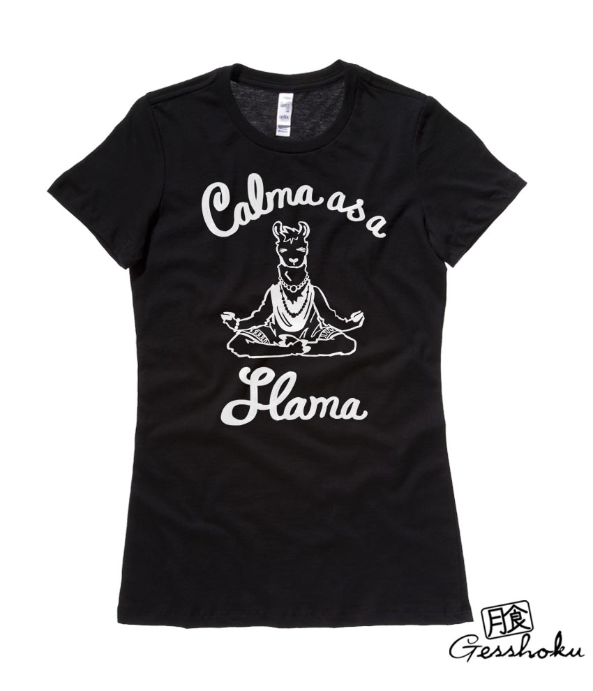 Calma as a Llama Ladies T-shirt - Black