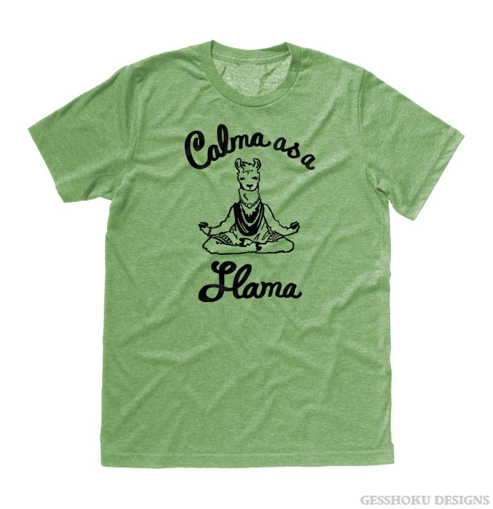 Calma as a Llama T-shirt - Heather Green