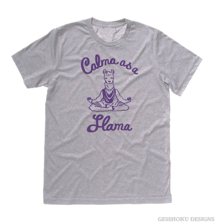 Calma as a Llama T-shirt - Light Grey