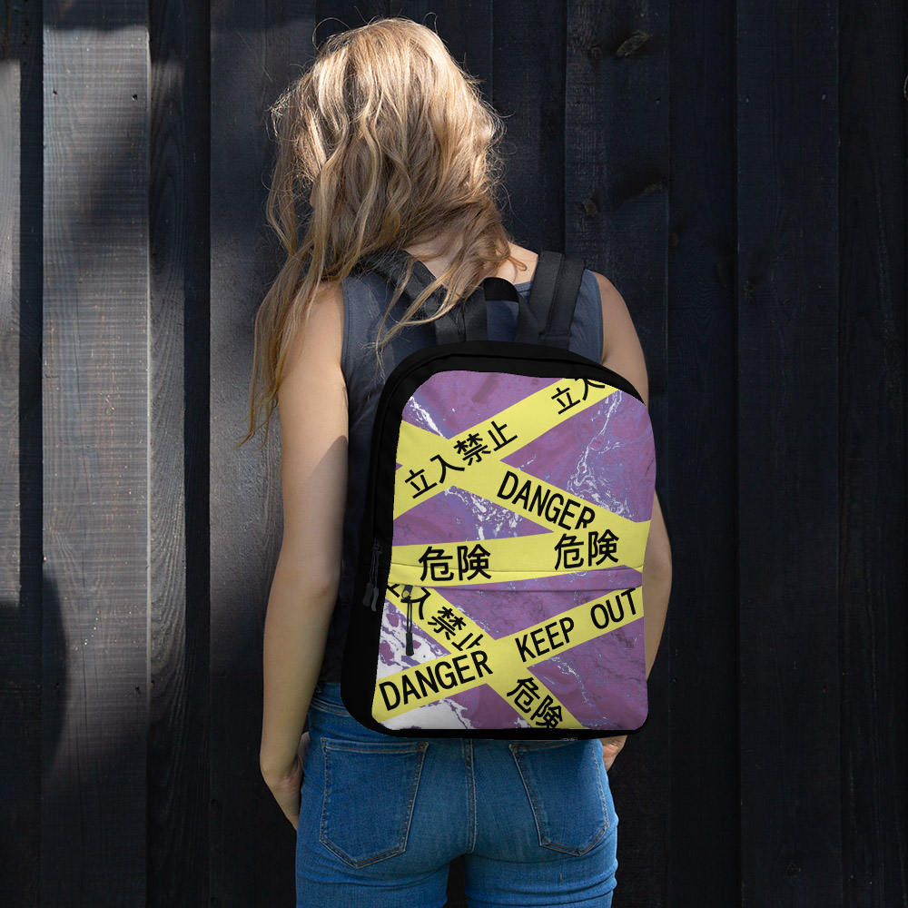 Caution Tape Aesthetic Classic Backpack -
