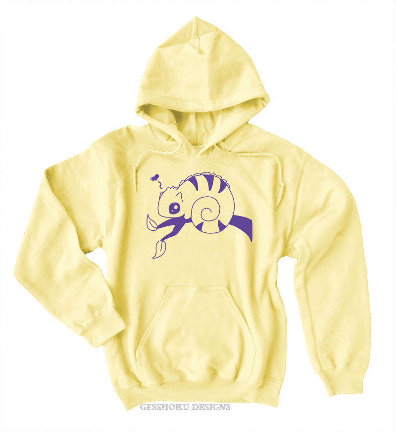 Chameleon in Love Pullover Hoodie - Yellow