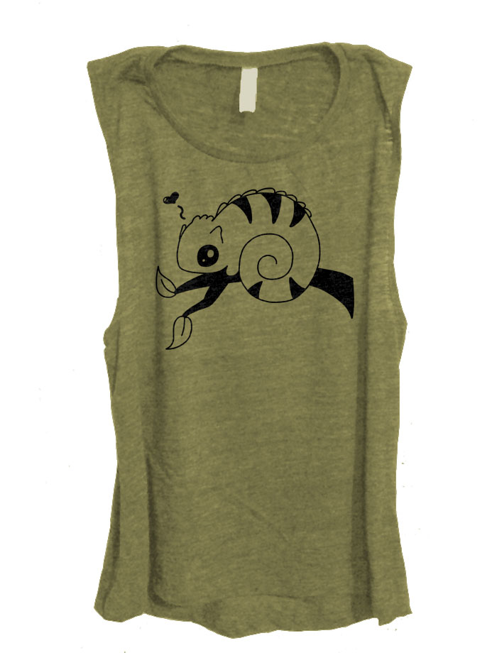 Chameleon in Love Sleeveless Top - Olive Green