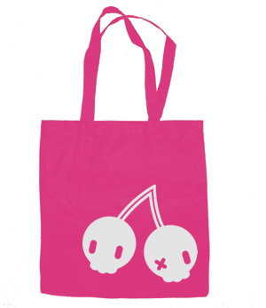 Cherry Skulls Tote Bag