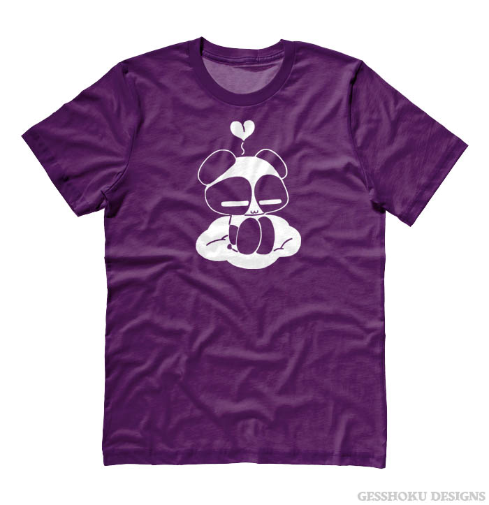 Chibi Goth Panda T-shirt - Purple