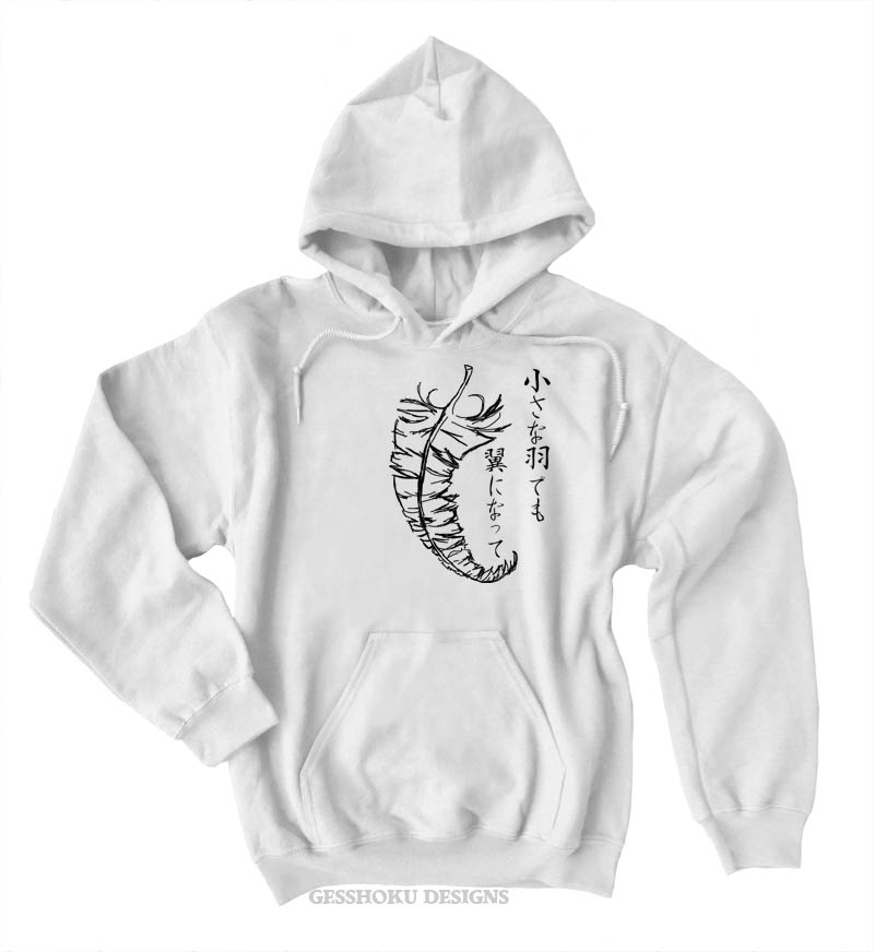 Chiisana Hane ~ Feathers Pullover Hoodie - White