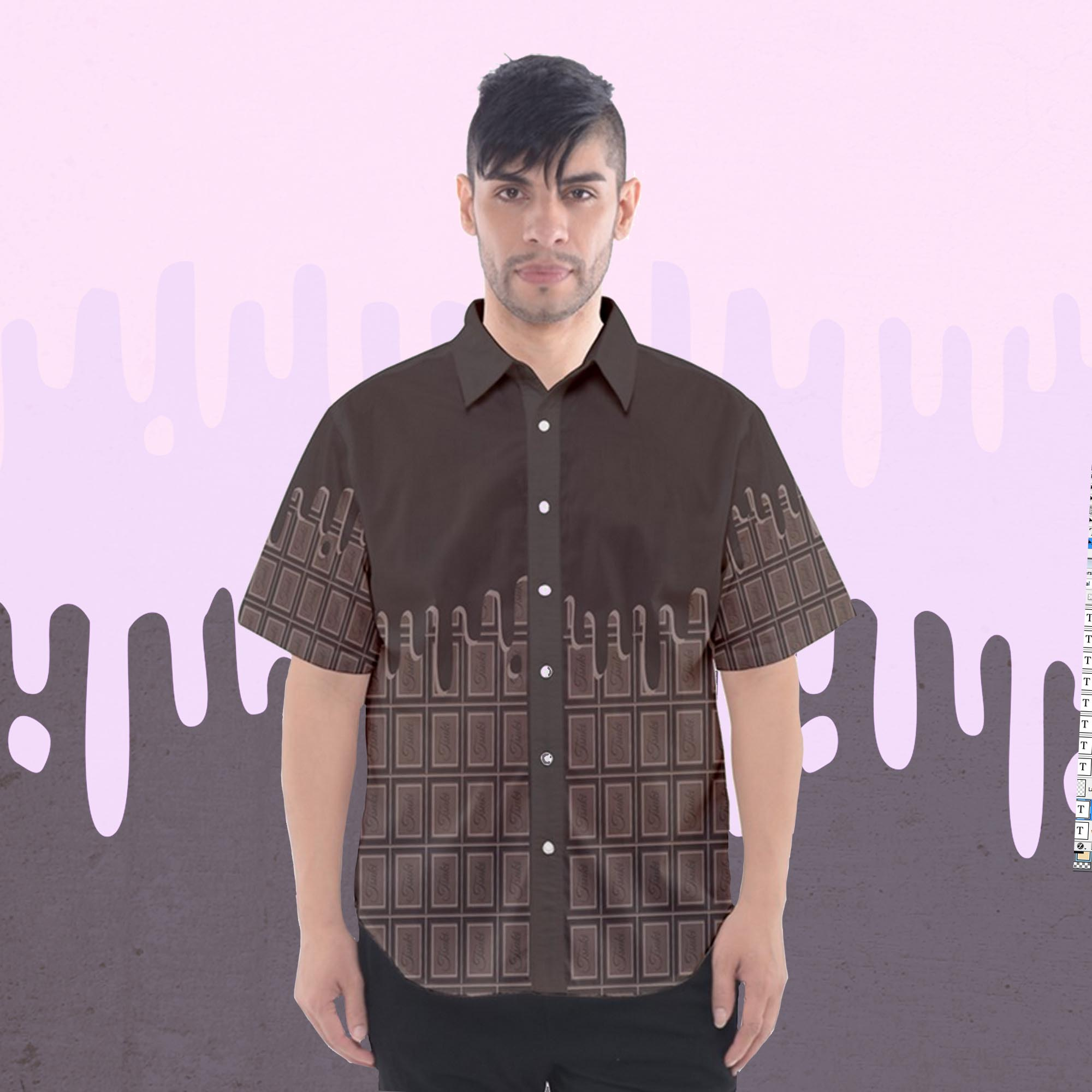 Sweet Chocolate Candy Button Shirt -