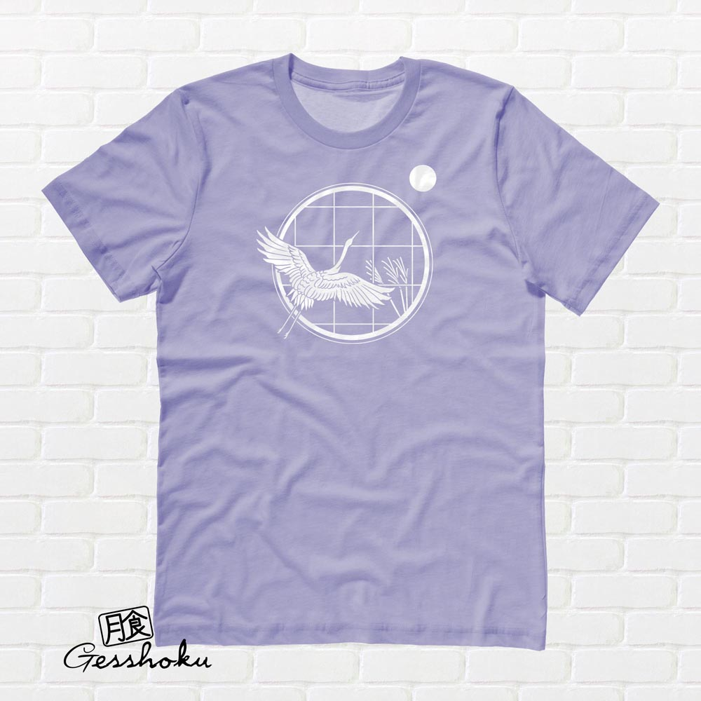 Crane and Moon T-shirt - Violet