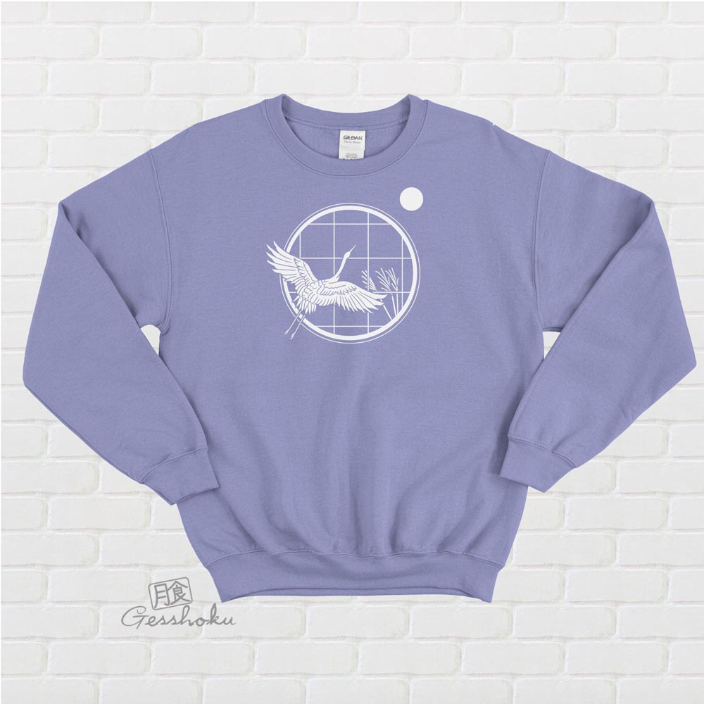 Crane and Moon Crewneck Sweatshirt - Violet