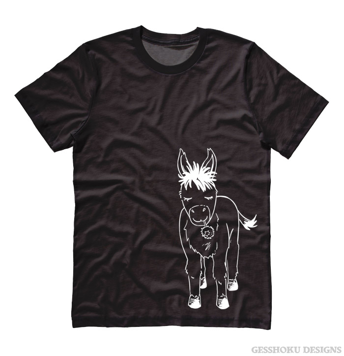 Donkey with Flower T-shirt - Black