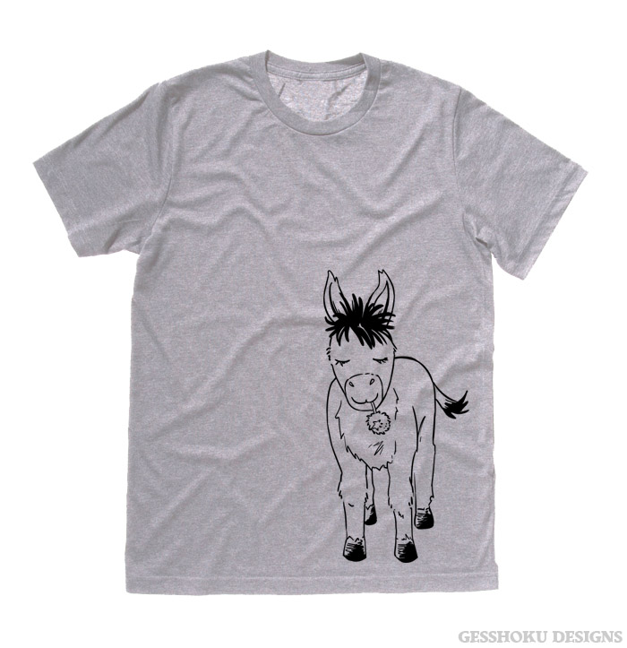 Donkey with Flower T-shirt - Light Grey