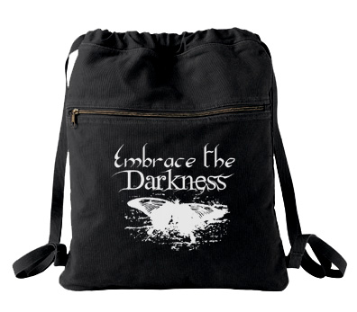 Embrace the Darkness Cinch Backpack - Black