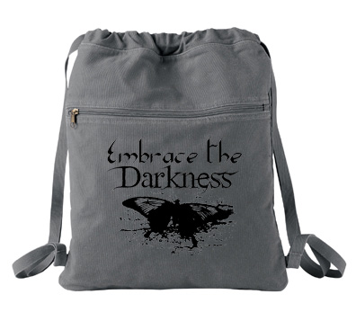 Embrace the Darkness Cinch Backpack - Smoke Grey