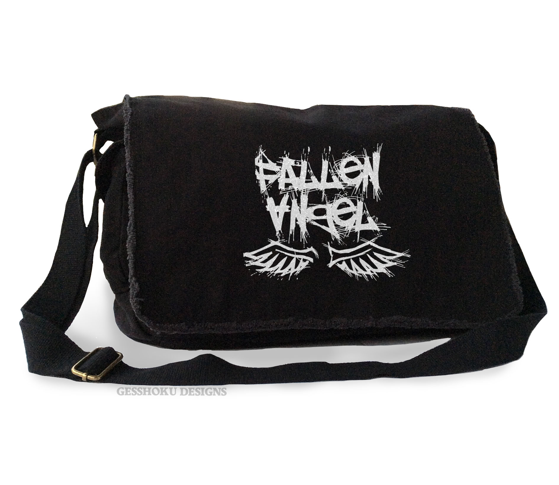 Fallen Angel Messenger Bag - Black-