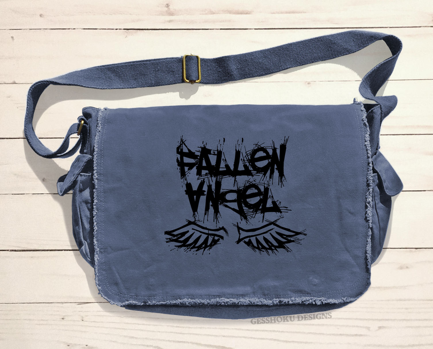 Fallen Angel Messenger Bag - Denim Blue