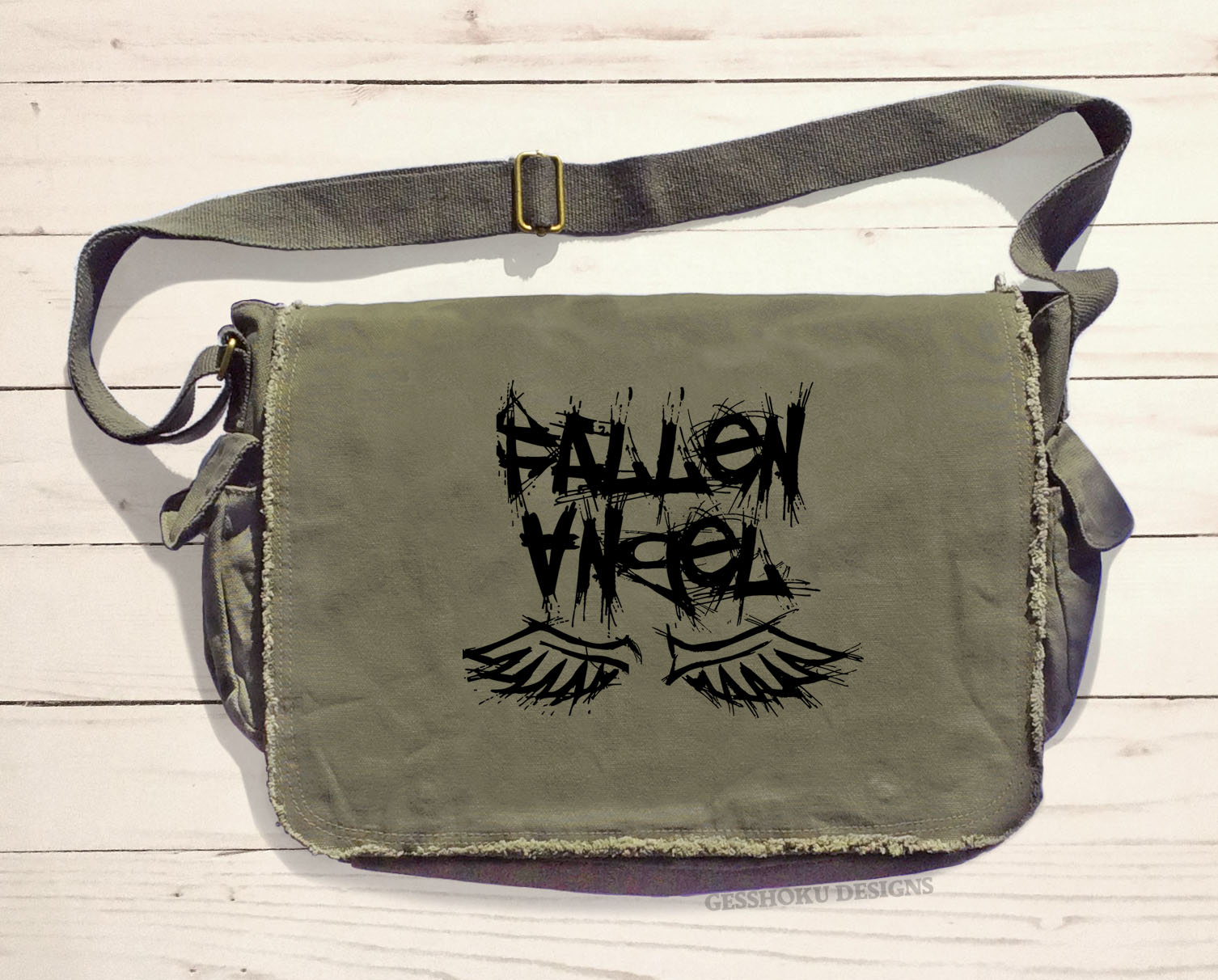 Fallen Angel Messenger Bag - Khaki Green