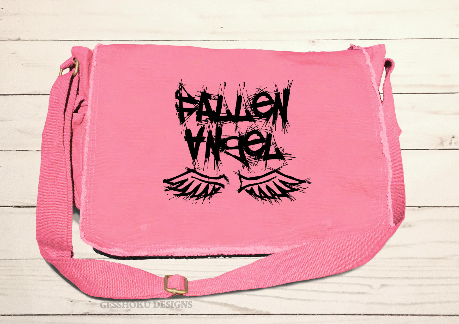 Fallen Angel Messenger Bag - Pink