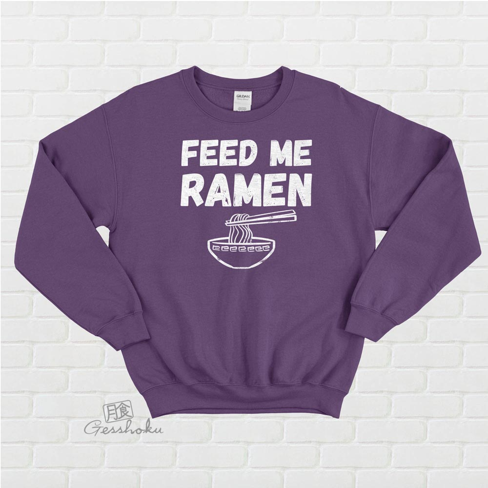 Feed Me Ramen Crewneck Sweatshirt - Purple