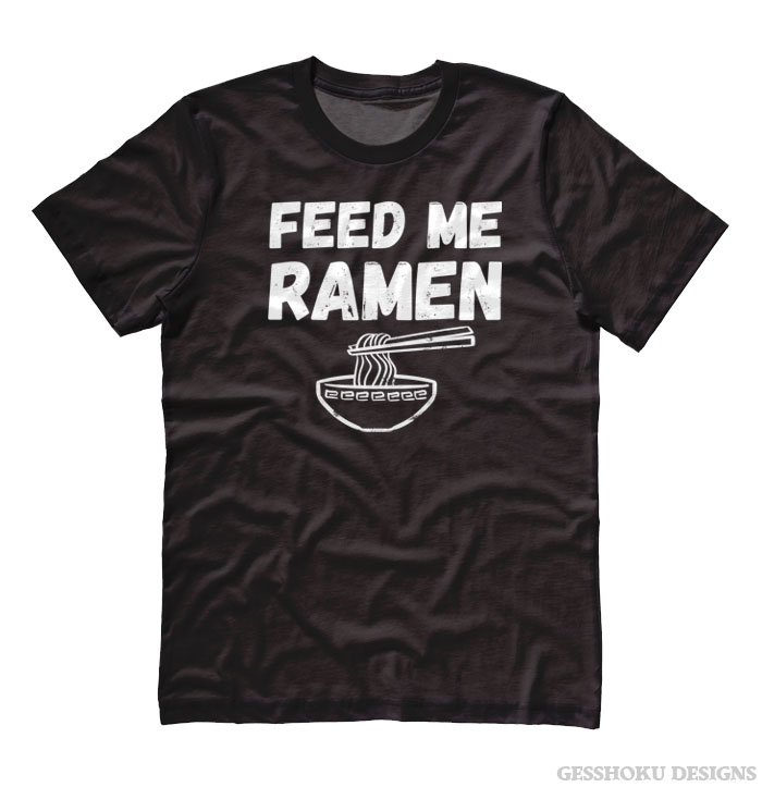 Feed Me Ramen T-shirt - Black
