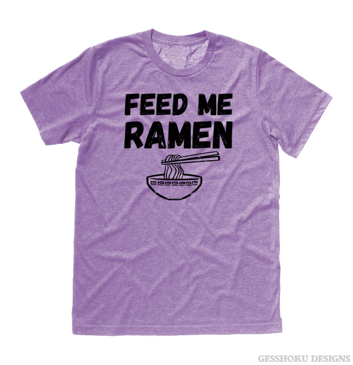 Feed Me Ramen T-shirt - Heather Purple