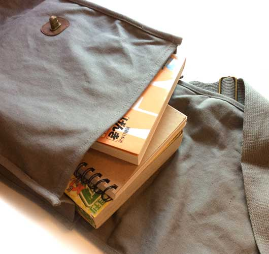 Field bag with books