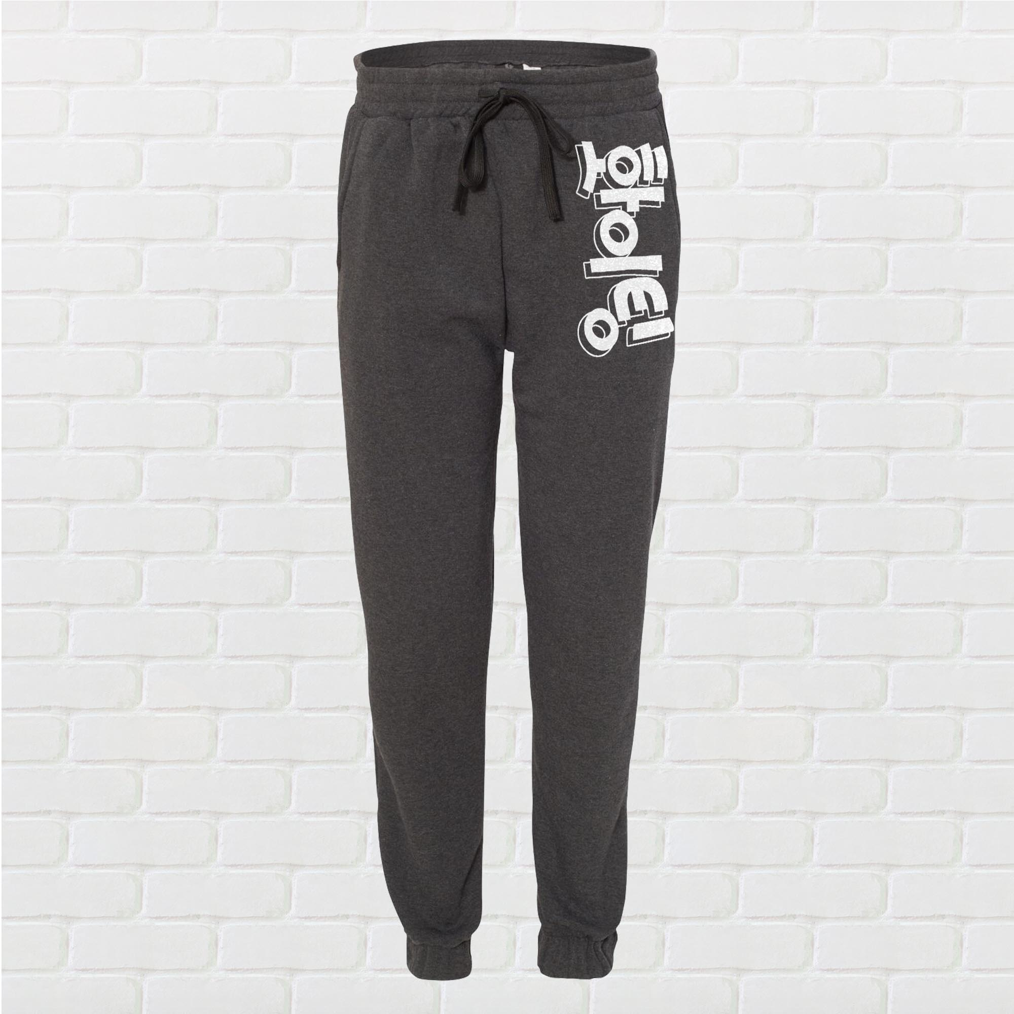Fighting! Korean Unisex Jogger Pants - Charcoal Grey