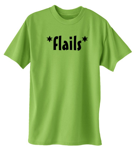 *Flails* T-shirt - Lime Green