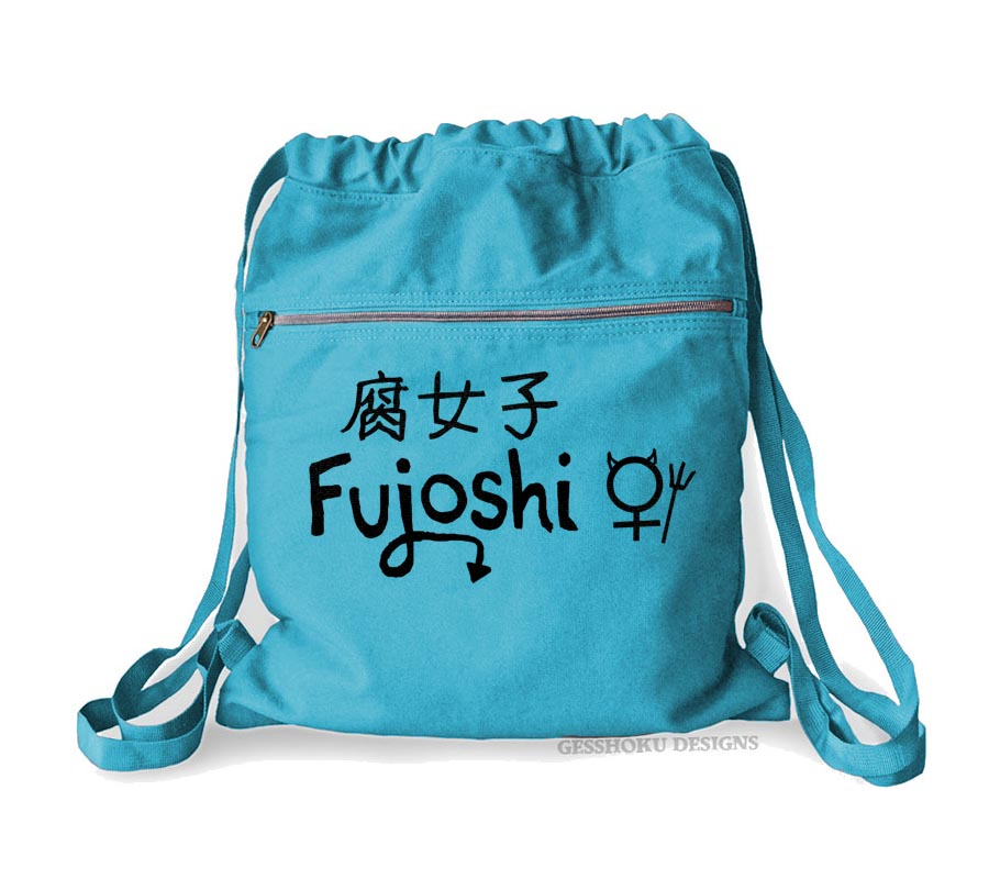 Fujoshi Cinch Backpack - Aqua Blue
