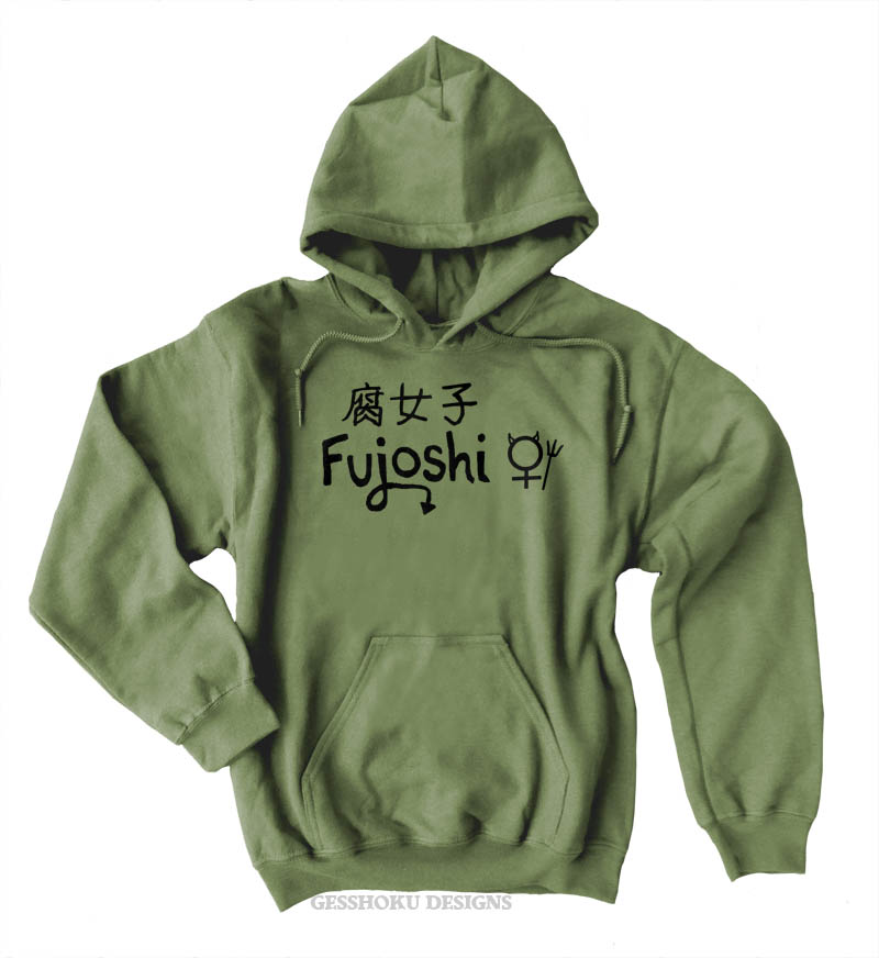 Fujoshi Pullover Hoodie - Olive Green
