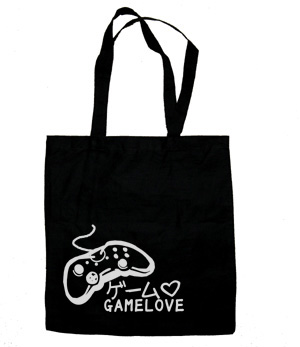 Game Love Tote Bag (silver/black)