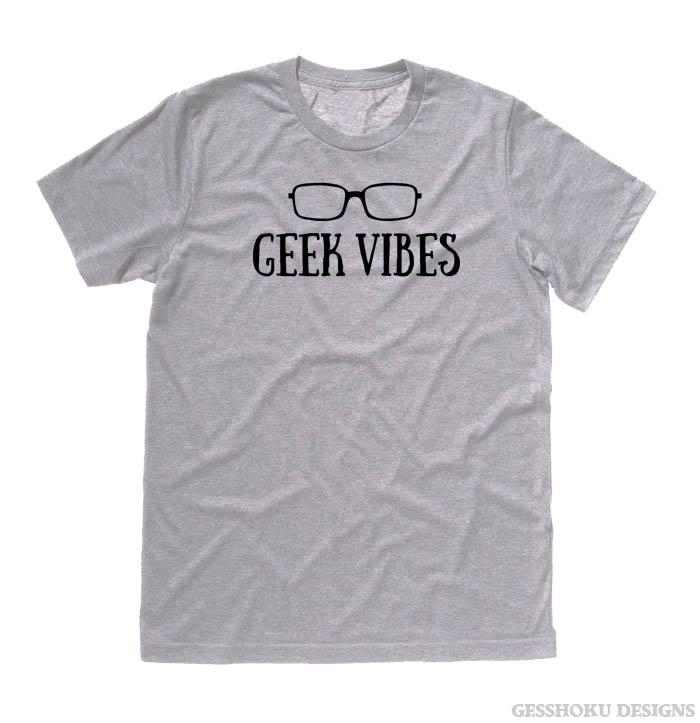 Geek Vibes T-shirt - Light Grey