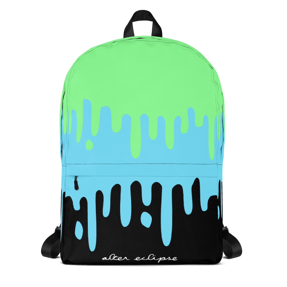 Pastel Slime Drips Classic Backpack - Green