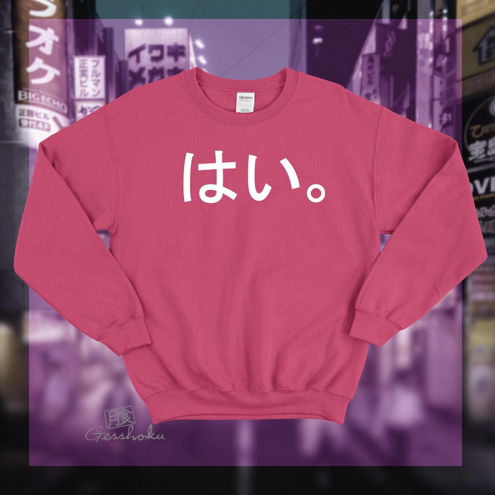 Hai. Crewneck Sweatshirt - Hot Pink