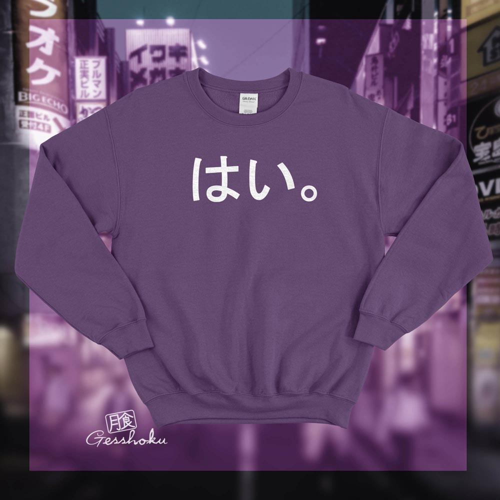 Hai. Crewneck Sweatshirt - Purple
