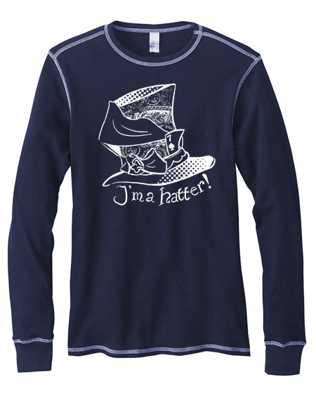 I'm a Hatter! Mens Long-Sleeve Thermal Shirt - Navy Blue